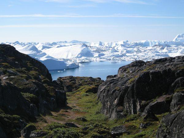 IJsfjord van Ilulissat in Groenland