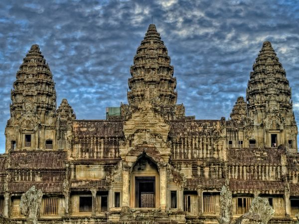 De fraaie Angkor Wat Tempel in Cambodja