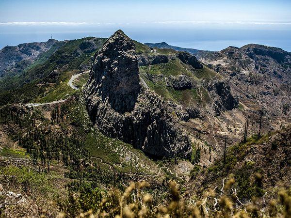 Vulkaanlandschap op La Gomero
