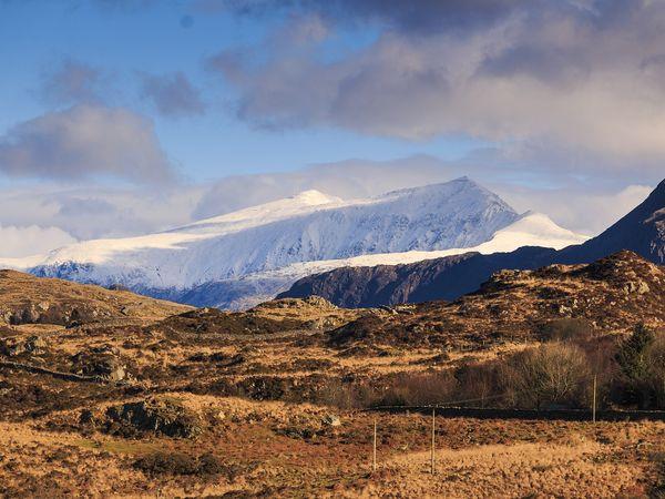 Snowdon berg in het Snowdonia National Park, Wales.