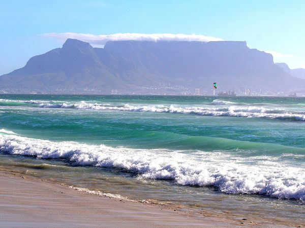 Uitzicht op de Tafelberg Kaapstad, Zuid-Afrika